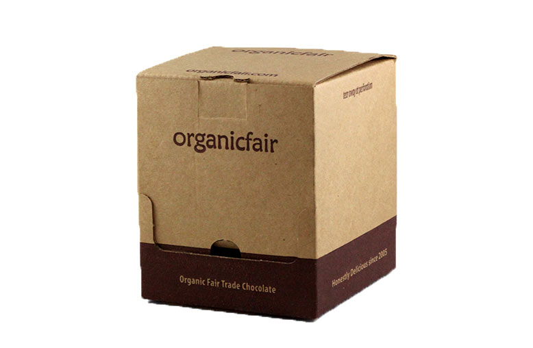 Organic Fair Chocolate Counter Display Shipper Box