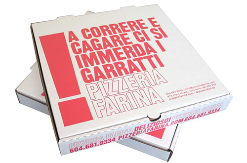 Pizzeria Farina Pizza Boxes