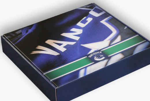 Vancouver Canucks Custom Die Cut Mailer Boxes