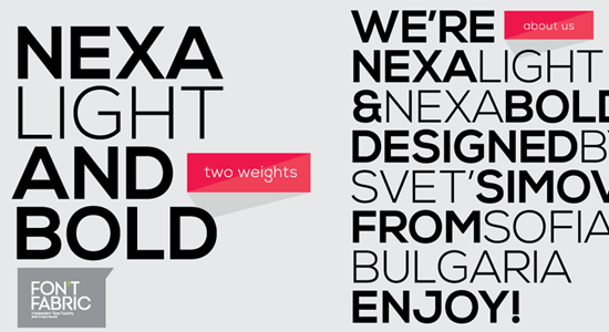 nexa font for packaging