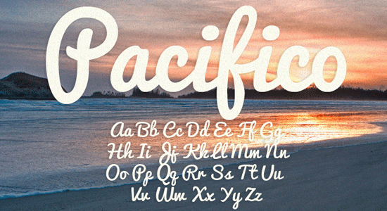 pacifico font for packaging
