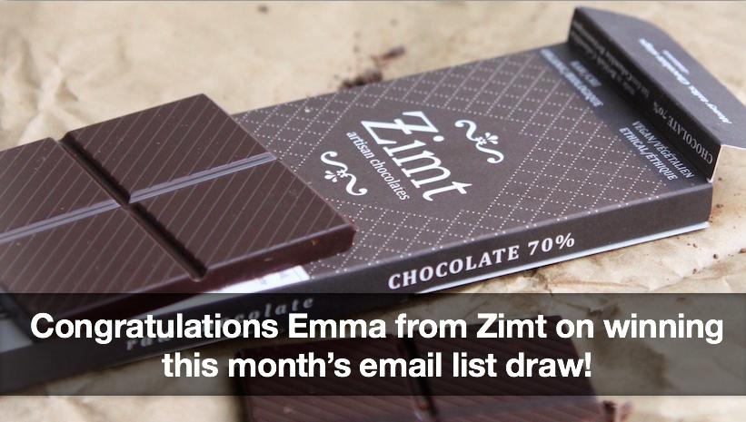 Congratulations Emma from Zimt!