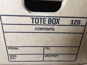 custom printed form on box