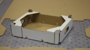 custom die cut corrugated cardboard tray