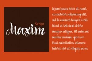 maxim script font
