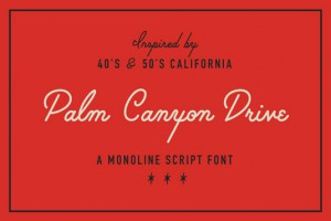 palm canyon drive font