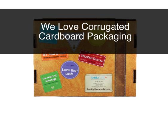 We Love Corrugated Cardboard Packaging