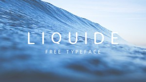 liquid packaging typeface