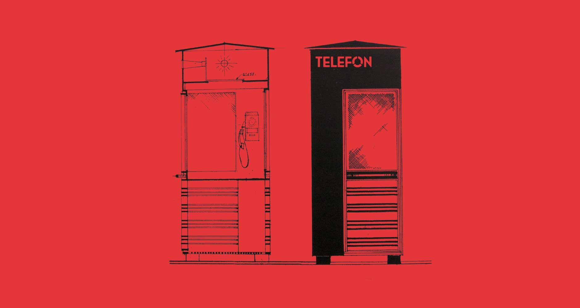 telefon font type poster